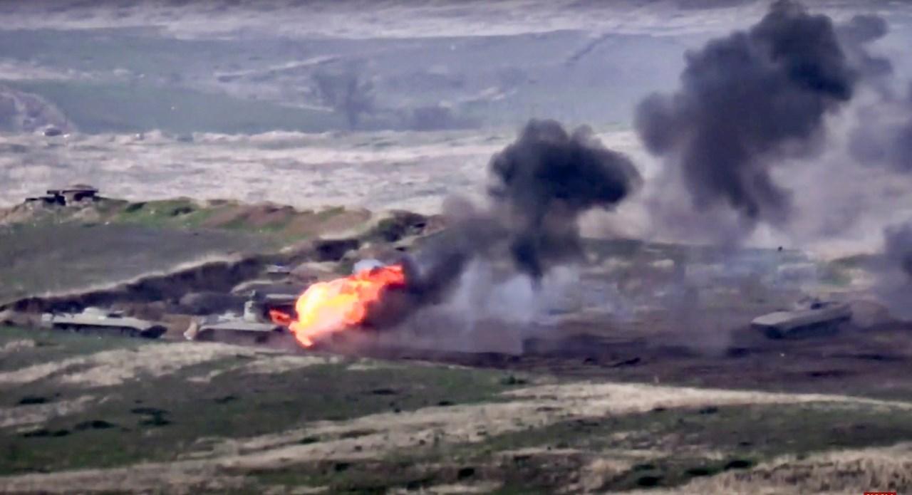 Χτύπημα σε στρατιωτικό όχημα του Αζερμπαϊτζάν