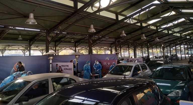 Διενέργεια τεστ στο αυτοκίνητο στη Λάρισα